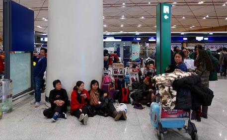 北京首都机场航班大面积延误