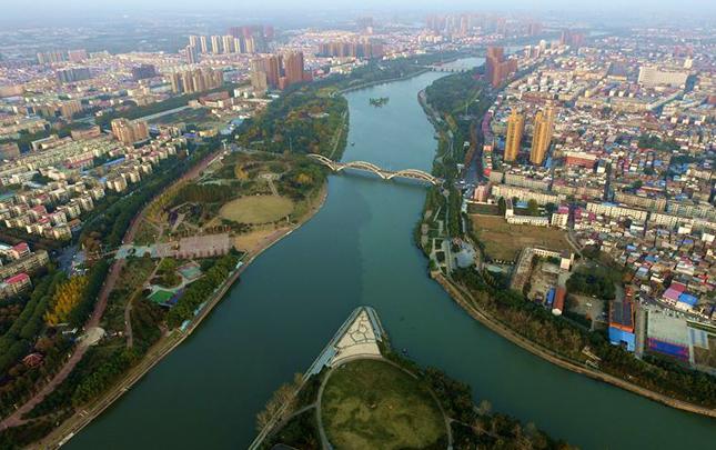 【航拍】河南漯河:沙澧河畔秋色美