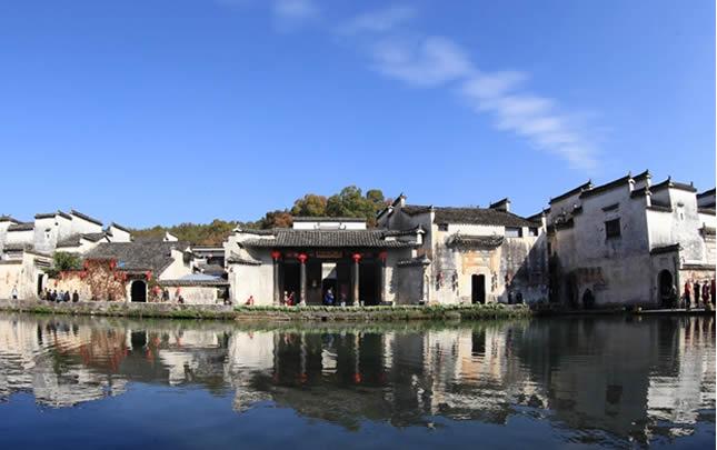 安徽黃山:初冬宏村美如畫