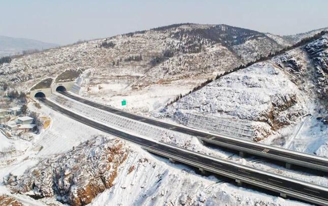 【航拍】雪後登封白坪鄉