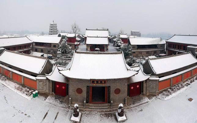 【航拍】雪后商丘清凉寺古朴美