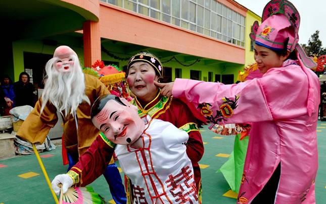 河南夏邑:传统节目迎新春