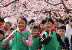 桃花林下戏童年