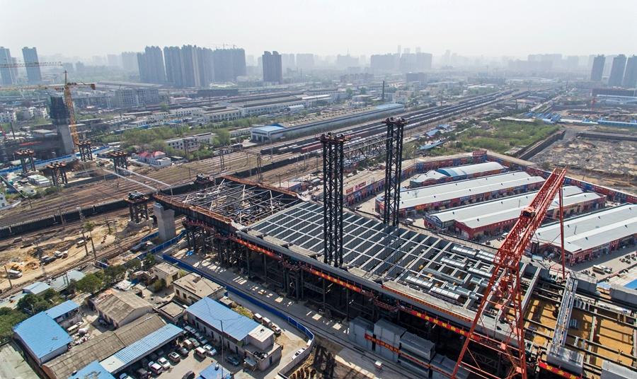 【航拍】郑北大桥施工进入顶推阶段