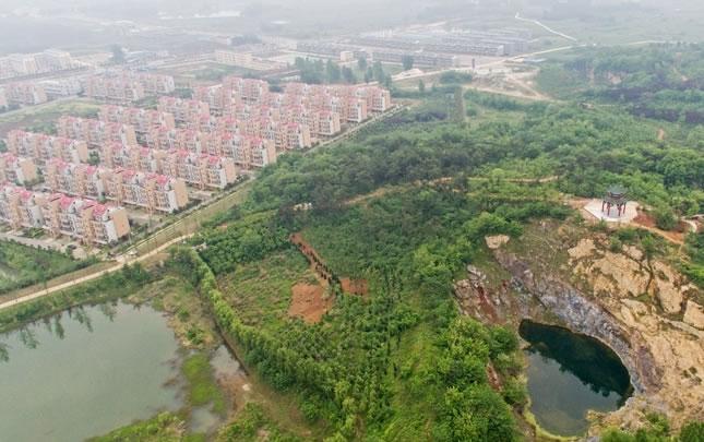 【航拍】息县濮公山:昔日荒芜矿山变生态公园