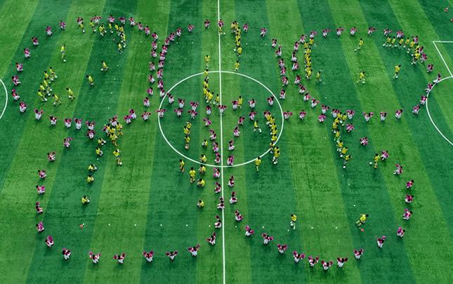 换个视角看扶沟县中学生运动会开幕式