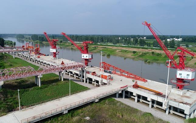 【航拍】建设中的漯河港