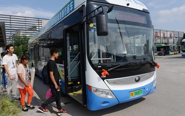 鄭州:首批氫燃料新能源公交車運營