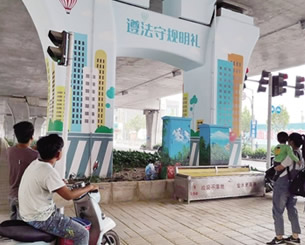 郑州桥墩刷成亮丽风景线细节让城市更温暖