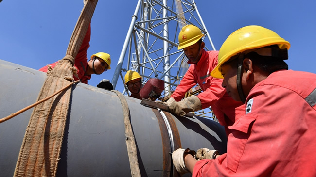 【航拍】濮陽:節日堅守只為加快儲氣庫建設