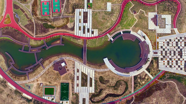 【航拍】許昌中央公園水係全線貫通
