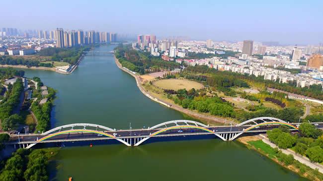 【航拍】河南漯河沙澧河畔絢麗秋景