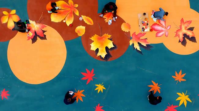 河南許昌:手繪3D景觀裝扮中央公園