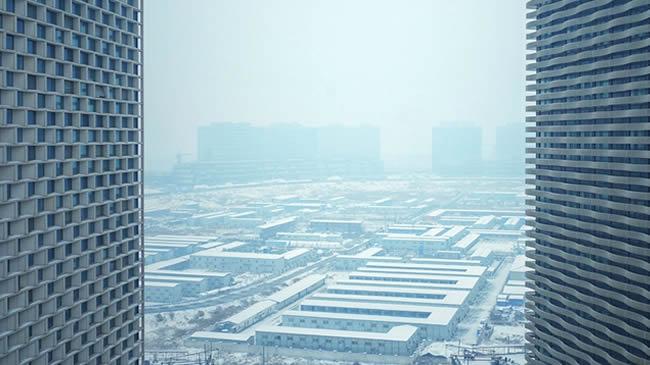 【航拍】雪後鄭州的童話世界
