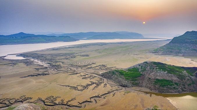 黃河河床上的美麗圖畫