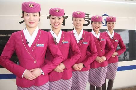 郑州客运段高铁乘务员更换春装