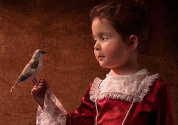 18世纪油画风格儿童人像摄影